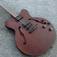 Wholesale custom shop jazz electric guitars brown body china classical guitars335 reals provide OEM service
