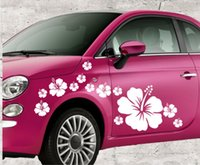 Wholesale Flower Graphic Vinyl Art Wall stickers Car Body Sticker Waist Line Home Party Decals decoration