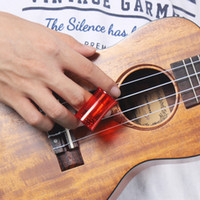 Wholesale High Quality Composite sand Ukulele Guitar Finger Bell Sand Hammer Companion Rhythm Accompaniment Fun hot Red