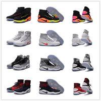 Wholesale High cut Hyperdunk Basketball Shoes Men Discount Sale Original Sneaker ReTRO Weave Training Boots keep warm oreo Size