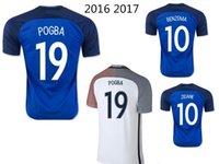 Wholesale 2016 GRIEZMANN PAYET BENZEMA POGBA Thai Quality Euro Cup Mens Soccer Uniforms jersey Shirts Soccer Shirts Soccer Jerseys