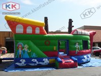 inflatable games inflatable bouncer - pirate ship inflatable air bouncer castle inflatable combo for sale Outdoor parent child interactive games