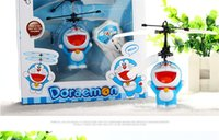 Wholesale Cheap RC Helicopter Remote Control Doraemon Cartoon Flying Toys for Children Kids Hand Infrared Induction Automatic Floating Best Gift
