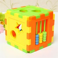 Wholesale Baby Colorful Block Matching Sorting Educational Toy Geometry Shape Intelligence Training Box For Kids