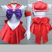 Wholesale Colors Anime Sailor Moon Cosplay Sexy Costume Plus Size Halloween Bow Costumes Gift For Women Fantasia Lolita Costumes Dress