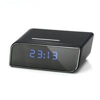 alarm remote battery - Alarm Clock p Spy Cameras APP Remote Control Wifi IP Wireless Spy Hidden Cameras with mAh Battery
