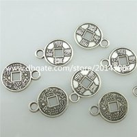 ancient coin pendant - 15396 Alloy Antique Silver Vintage Mini Ancient Chinese Coins Pendants