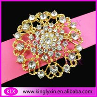 asian chairs - pieces mm Fashion Gold Plating Round Crystal Rhinestone brooch pins for Wedding Chair Sash Wedding Bouquet
