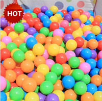 ball pool pit - 50pcs Water Pool Ocean Wave Ball Ball Pits Mix Color Plastic Stress Air Ball Funny Baby Outdoor Toys