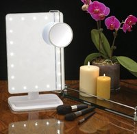 best vanities - Best selling Portable X magnifying Mirror Square white Touch switch makeup mirror Vanity Lady Lighted Makeup Mirror