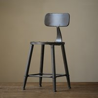 antique lounge chairs - American country to do the old wrought iron antique lounge chair bar stool cafe