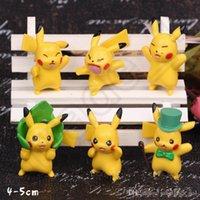 Wholesale Pikachu Mini PVC Figures cm Poke Cartoon Action Figure Toy Collector s Kids gift Edition Model OOA679