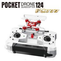 Wholesale New Dron Quadrocopter FQ777 Pocket Drone CH Axis Gyro Quadcopter With Switchable Controller RTF UAV RC Helicopter mini drone DHL