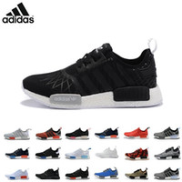 athletic girls boots - Adidas NMD Runner PK R1 Black Red Blue Men s Sports Running Shoes all black all white red flyknit girls athletic shoes plus size
