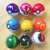 Wholesale ABS Action Anime Figures set cm pikachu figure PokeBall Fairy Ball Super Ball poke Ball Kids Toys Gift b986