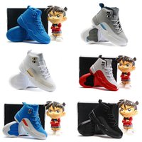 Wholesale Children s Basketball Shoes kids Cheap Retro White Black Ovo s Wolf Grey Cheap Boys Girls Athletic Sports Seakers Kids For Sale