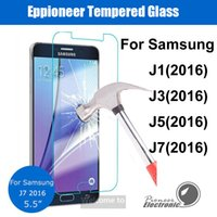 anti fingerprint - For A3 A5 A7 A9 J1 J3 J5 J7 Tempered glass Screen Protetor Anti fingerprint Paper Package