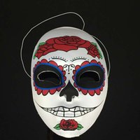 face painting supplies - New Halloween horrible hand painted mask Day of the dead masks Festival and party supplies styles available Drop shipping