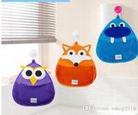 baby bath caddy - 2016 Baby Shower Caddy Hook Bathroom Storage Organizer Shower Tote Children s Cartoon Hanging Pouch Mesh Bath