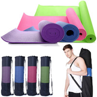Wholesale 6mm Thick Exercise Yoga Mat x24 quot Non slip Pad Pilates Fitness with Carrying bag