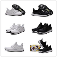 athletic spikes - Hot Sale Classic white black color Ultra Boost Running Shoes Women and Men Athletic breathable Sports Shoes Size