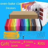 baking education - colors oven bake fimo polymer clay with tools DIY toys Early Education brinquedo fashional soft clay