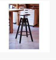 adjust chair height - The new bar stools black wrought iron chair seat height can be adjusted to do the old American stool