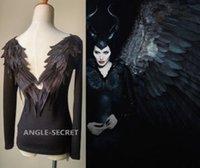 anime swan - BM52 DARK ANGEL MALEFICENT cosplay WINGS TEE SHIRT GOTHIC BLACK Swan BACKLESS