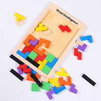 Wholesale Children s Educational Toys Wooden Puzzles Versatile Building Blocks Tetris A00124
