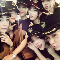 beret badges - The new crown embroidered badge navy woolen flat M Benn Ms baseball cap octagonal cap beret