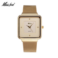 Cheap Men's leisure brand watches stainless steel round star with Japan quartz movement waterproof watch battery for MISS FOX