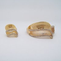 american direct marketing - 2016 Hihg Gold Plated Bracelet Ring Two Piece Sets For Women Imperial Crown Jewelry Factory Direct Marketing Discounted Price