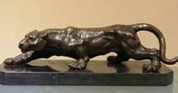 art deco figurine - Western Art Deco Copper Bronze Marble Lifelike Tiger Figurine Sculpture Statue