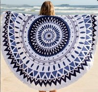 adult poncho towel - 2015 New Summer Large Microfiber Printed Round Beach Towels With Tassel Circle Beach Towel Serviette De Plage beach Poncho