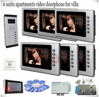 access professional systems - Entry Access Control System Professional Smart Home Inch Video Door Phone Doorbell Intercom For Apartments Full Kit
