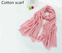 beach towels discount - The new Korean winter wind Sen female literary fold cotton beach towel scarf monochrome fashion discount spot man woman scarf