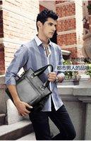 Wholesale The first layer of genuine leather bag Men s Handbag Cross Paragraph Korean Men Shoulder Leather Bag Retro Packet Briefcase Business Compute
