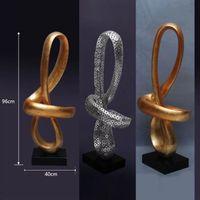 antique gilt - Art Gilded Sculpture Crafts Natural Line Soft Furnishings Statue Decoration Sculpture Crafts with Resin for Hotel Decoration