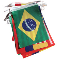 Wholesale Brazil World Cup Fabric Bunting All Flags Metres Flag size cm x cm
