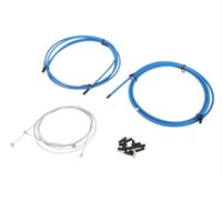 Wholesale 1PC MTB Mountain Road Bike Bicycle Brake Cable Derailleur Line Pipe Shifter Brake Cable Set Wire Kit White Blue Black Y0086