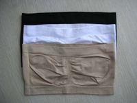 best strapless bra - 50pcs Strapless Bandeau Bra wrapped chest Strapless Bra White TubeTop Bandeau Soft Sexy Wrap Chest Vest WRAP for women best gift