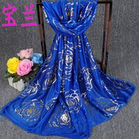 beauty wrap - HOt silk scarves for women new Golden Rose Beauty long scarf shawl collar yarn factory direct explosion