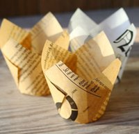 baked news - Cupcake Wrapper News paper Baking Cups Cupcake Liners