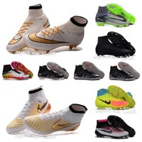 Wholesale OriGINal mens football boots MaGISta orden FG high ankle soccer shoes CR7 MercURIal SupERfly V IV IC TF Neymar HyperVENom soccer cleats