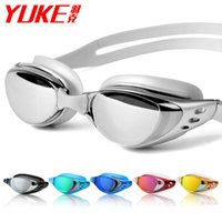 Wholesale anti fog swimming goggles men and women unisex coating Waterproof swimming glasses adult goggles free shippping