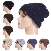 Wholesale gorro winter autumn reversible beanie men hat womens hats touca gorro snow caps knit hat skull chunky baggy warm unisex skullies