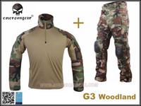 Wholesale Men Military Hunting Combat BDU Uniform EMERSON Gen3 Tactical Uniform Shirt Pants Knee Pad WL EM9278 EM7044