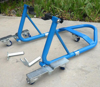 atv stand - ATV Stand Front Rear Wheel Stand Motorcycle Sport Bike Combo Swing Arm Lift Light and Solid construction