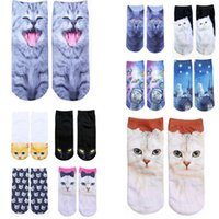 amazon cats - Cat Low Cut woman Ankle Socks Multi Pattern fashion Cartoon D amazon bestselling extra gift Long term goods e packet