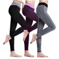 Wholesale Women s legging capri yoga running fitness trouser run cycling gym sports pants mallas mujer deportivas lulu leggings S028